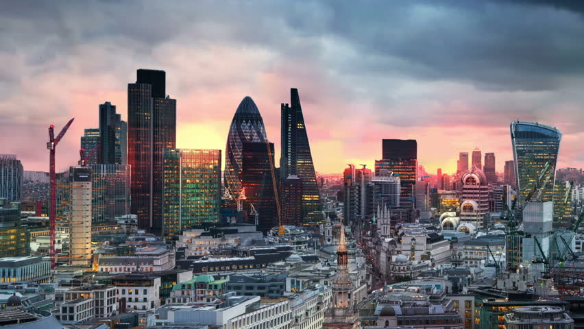 London, sunset. City of London view,  business and banking aria #11563733