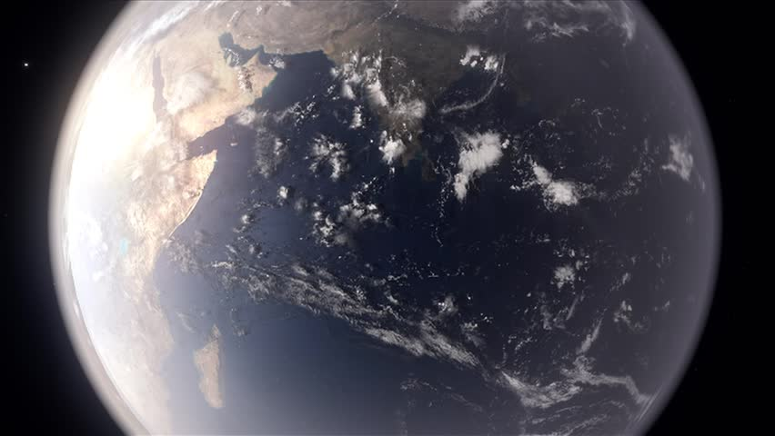 Computer Graphics Made Earth Space Footage Stock Footage