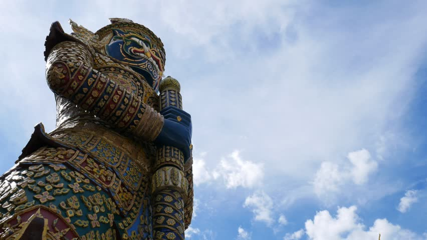 Buddha sculpture of Giant in Grand Palace and Wat Phra Kaew, Bangkok