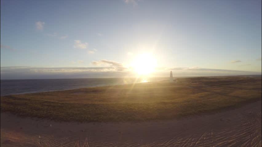 Nantucket aerial sunset. Beauty sunset aerial. Nantucket, Massachusetts. 1080p HD. - HD stock footage clip