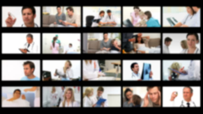 Montage of ill persons at the hospital and at home - HD stock footage clip