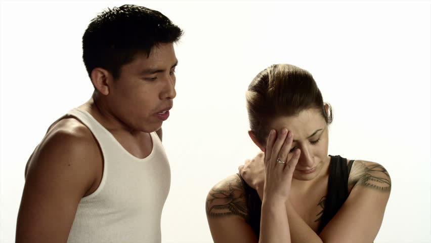 Hispanic man and woman expressing emotions - HD stock video clip