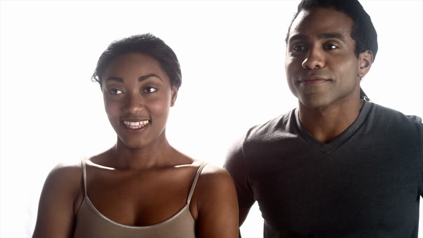 African man and woman expressing emotions  - HD stock video clip