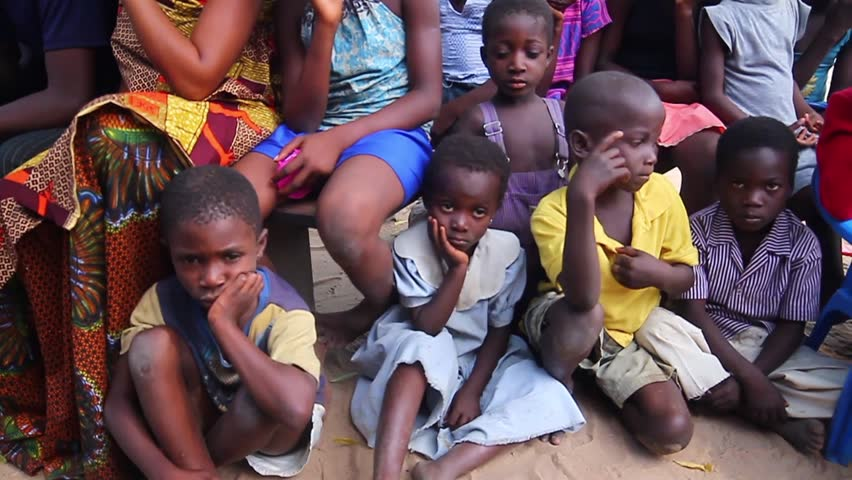 Sad Children sitting on the flloor, December 2012, Akosombo ghana
