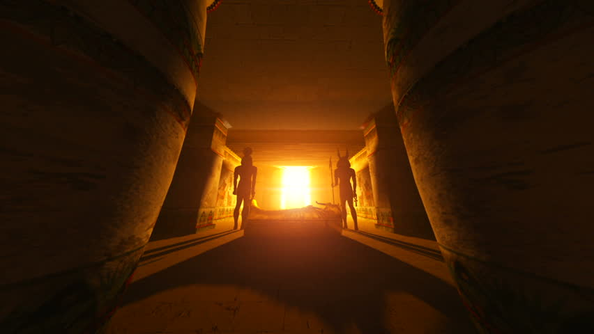 egyptian tombs  - HD stock footage clip