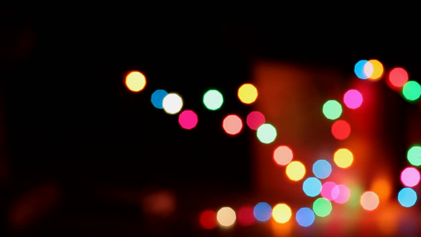 colorful bokeh background on holiday theme with flashing