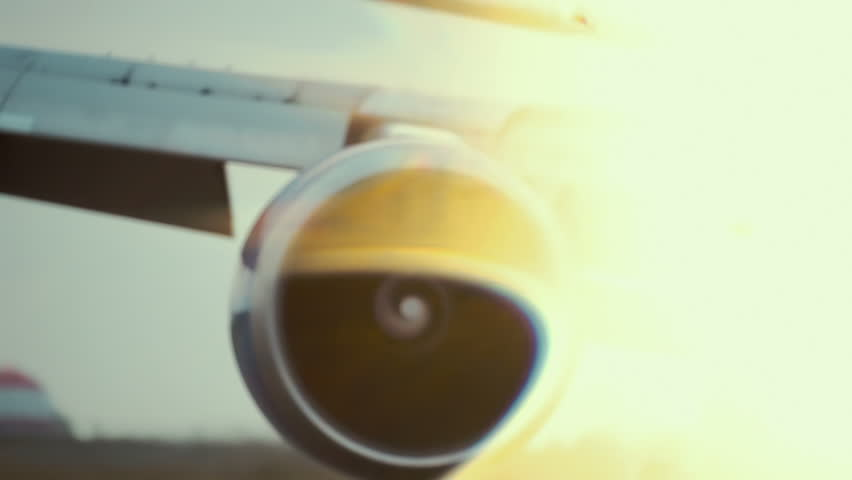 Hot air behind the aircraft engine.