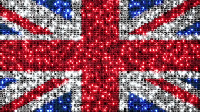 UK flag animation. Sequins. Loopable from frame 300 to frame 599. Zoom out. More options in my portfolio.