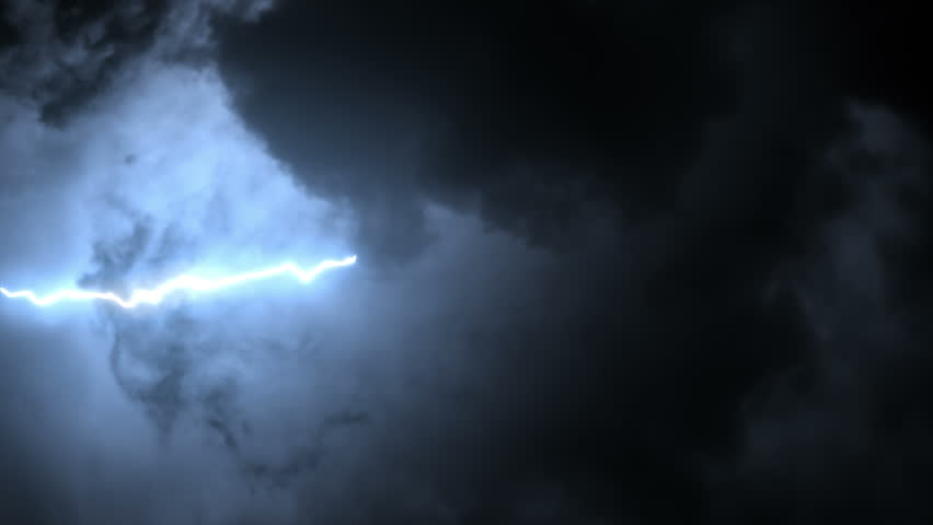 Cloudy sky with several lightning strikes. Blue. More options in my portfolio.