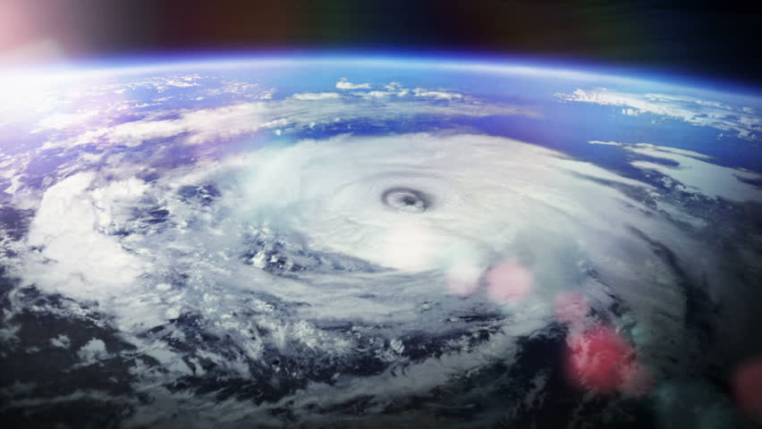 Amazing View Of Hurricane And Satellite Stock Footage ...