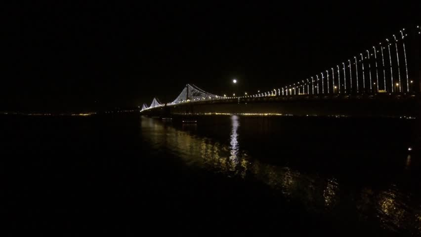 SF Night Lights of the city and bay bridge by Epic Flight Films. | Shutterstock HD Video #11856080