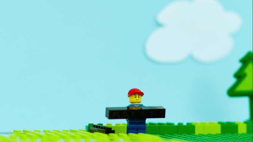 how to make a lego stop motion background