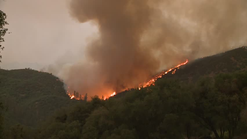 FOREST FIRES OF NORTHERN CALIFORNIA SUMMER 2015 WILD FIRES SMOKE FLAMES FIREFIGHTER CREWS BATTLE THE FIRES DURING THE DRY DROUGHT CONDITIONS HD HIGH DEFINITION STOCK VIDEO FOOTAGE CLIP 1920X1080 | Shutterstock HD Video #11914031