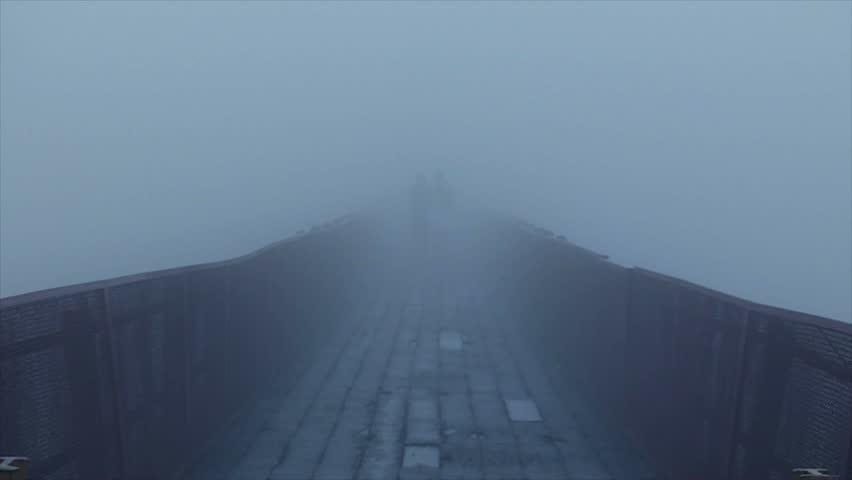 Bridge covered with mist #11945288