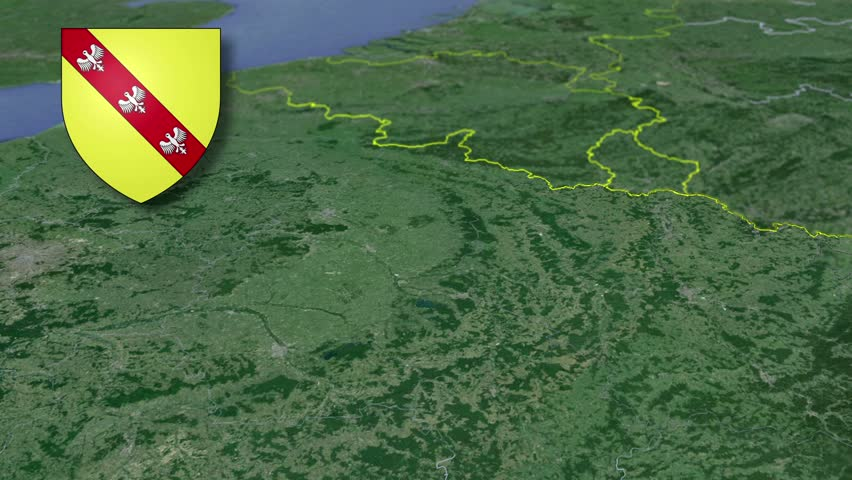 Lorraine whit Coat of arms animation map Regions of France