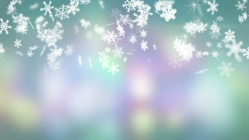 christmas snowfall on colorful background. seamless loop animation. 4k (4096x2304)  - 4K stock video clip