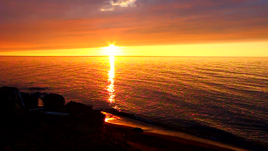 Light waves along the shoreline of Lake Superior in northern Michigan | Shutterstock HD Video #11969975