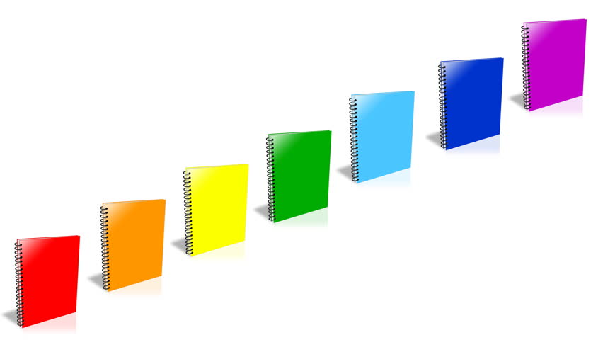 Conceptual video choose color of the Binder. ENDLESS LOOP - HD stock footage clip