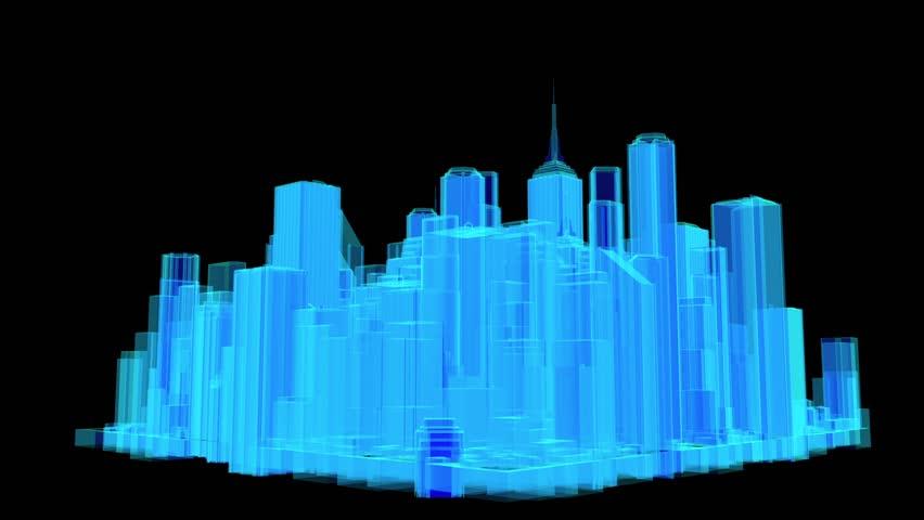 Blue Building  - HD stock video clip