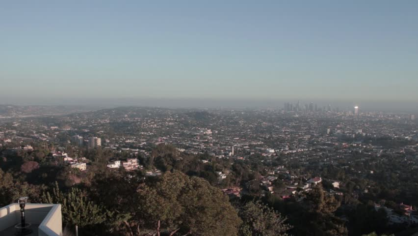 Downtown Los Angeles as seen from Griffith Park Observatory | Shutterstock HD Video #12083654
