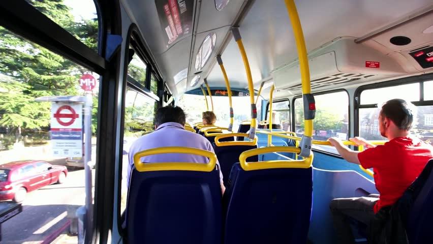 LONDON - NOV 19 : Inside View Of London Double Decker Bus ...