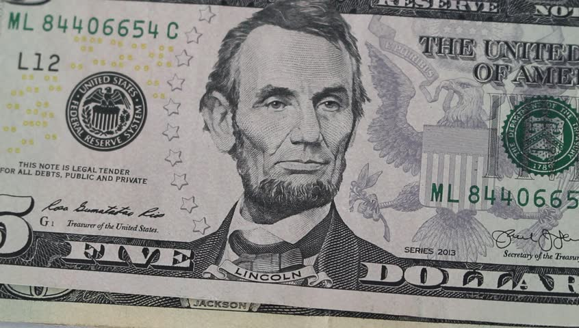 Different kind of US dollar banknotes close up - HD stock footage clip