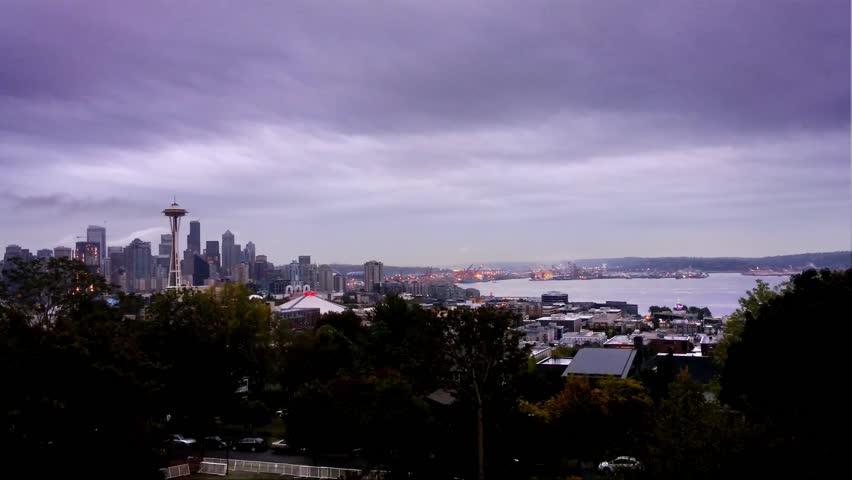 Seattle, Washington - September, 2015 - Seattle skyline at dawn.