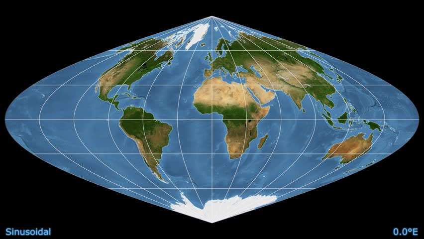 sinusoidal projection Panoramic image projections an image projection occurs whenever a flat image is mapped onto a  sinusoidal image projections aim to.