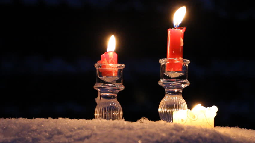 Red candles crystal sconces and a large candle stand in for Large outdoor christmas candles