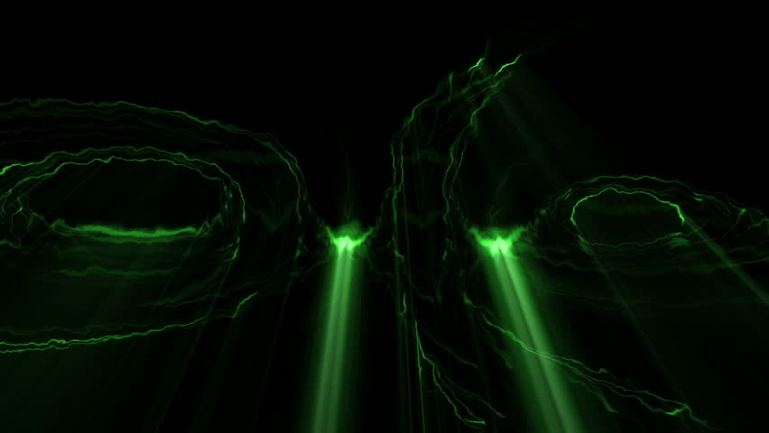 Fancy Light Effects In A Dark Background Stock Footage: The End TitleThe End Title