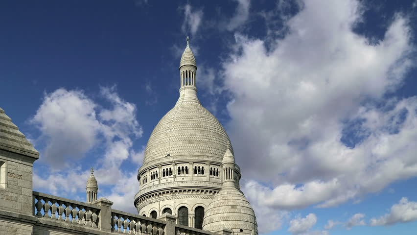 Basilica of the Sacred Heart, Paris, France   | Shutterstock HD Video #12374111