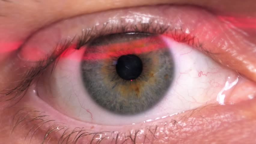 HD - Identification. Digital Retinal Scan. Close-up - HD stock video clip