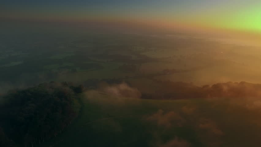 Aerial view near Chanctonbury Ring, South Downs, Sussex, England