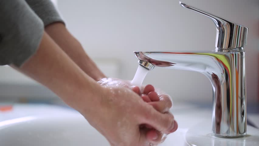 A Man Washes His Hands Washing Hands Cleaning Hands