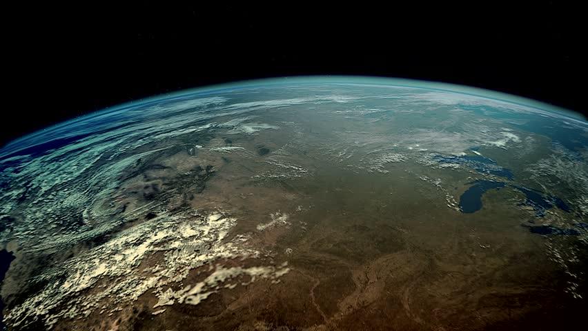 North America flyover.