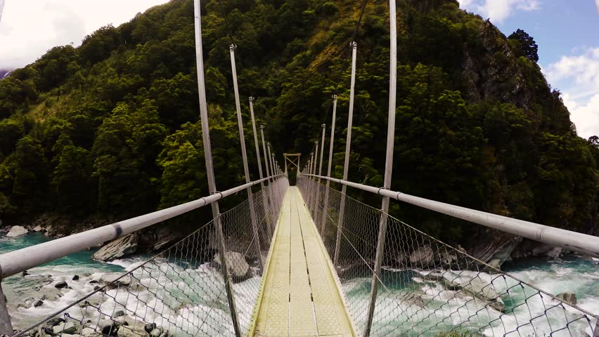 New Zealand Mountain Bridge   Shutterstock HD Video #12470276
