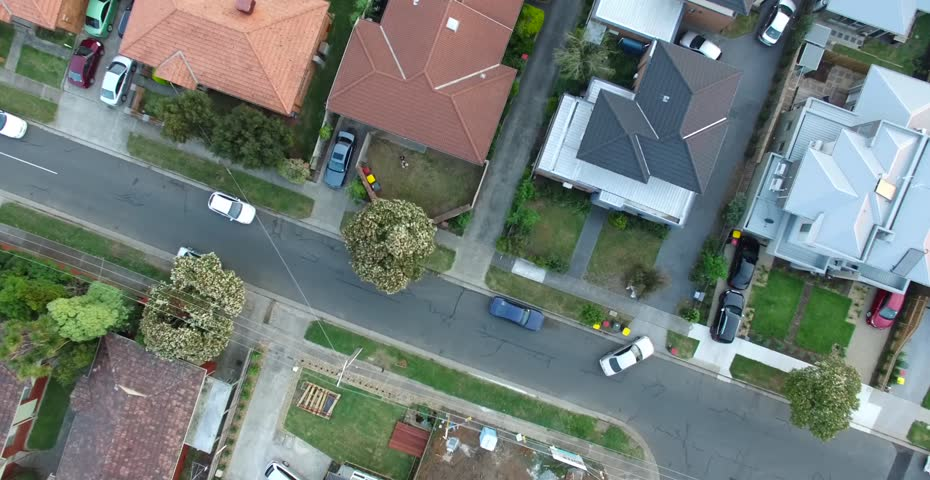 Birds eye aerial view of residential houses, suburbia, suburbs #12483641