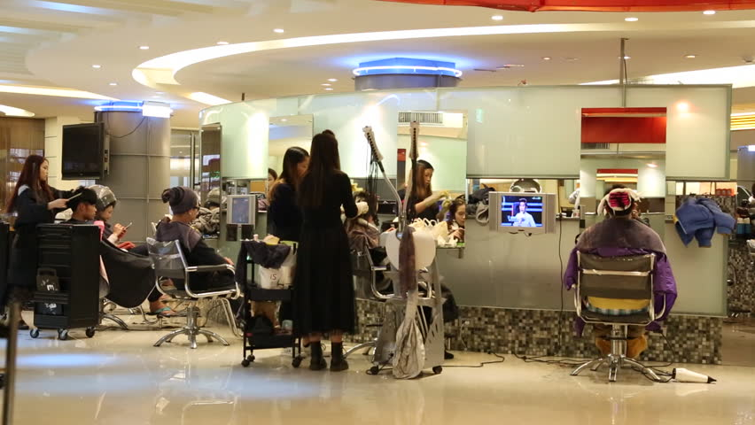 Taipei, Taiwan-01 March, 2015: Asian Beauty Salon Women ...