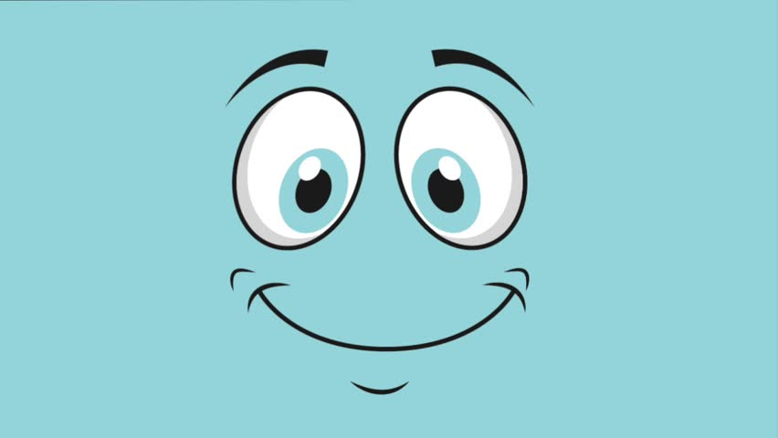 Happy face deign, video animation, HD 1080
