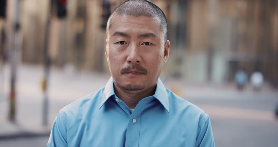 Slow Motion Portrait of Japanese businessman in city real people series | Shutterstock HD Video #12659087
