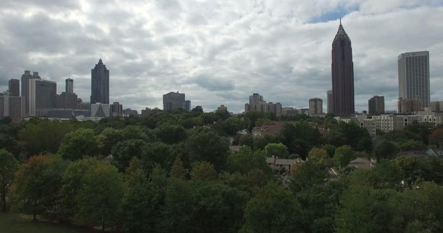 Atlanta downtown aerial #12701873