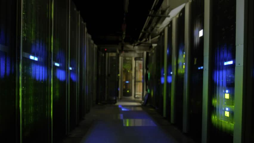 Server room data center seamless loop - 4K