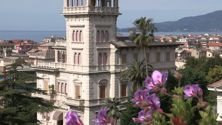 A panoramic view of an Art Nouveau building in Chiavari