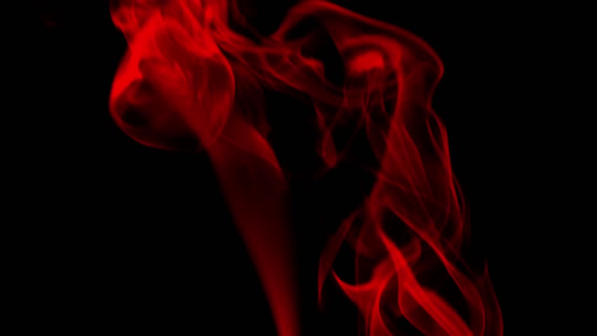Red Swirling Smoke Against Black Background Stock Footage ...