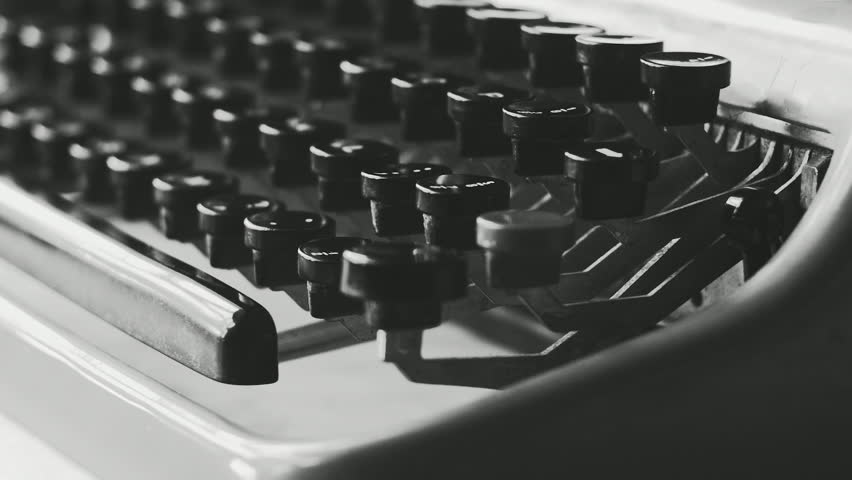 Creative typewriter shots in many different style, colors, mood, B&W. Beautiful close-ups, beautiful retro style shots - HD stock video clip