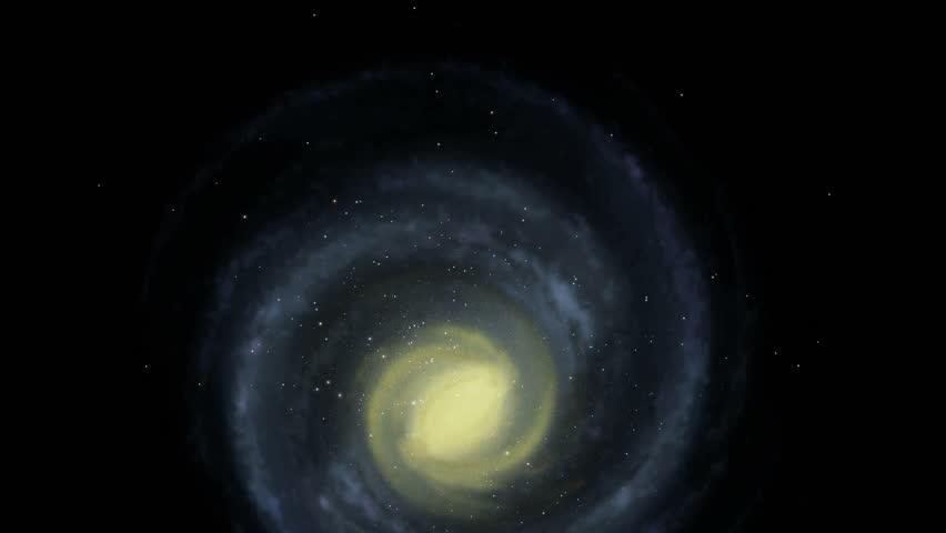 Galaxy - Face On - Milky Way - 4K stock footage clip