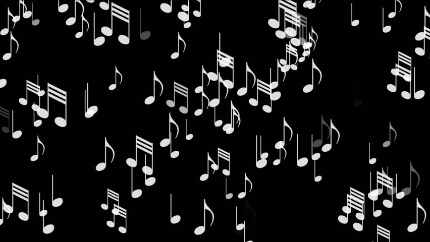 4k music notes backgroundsymbols melody composition