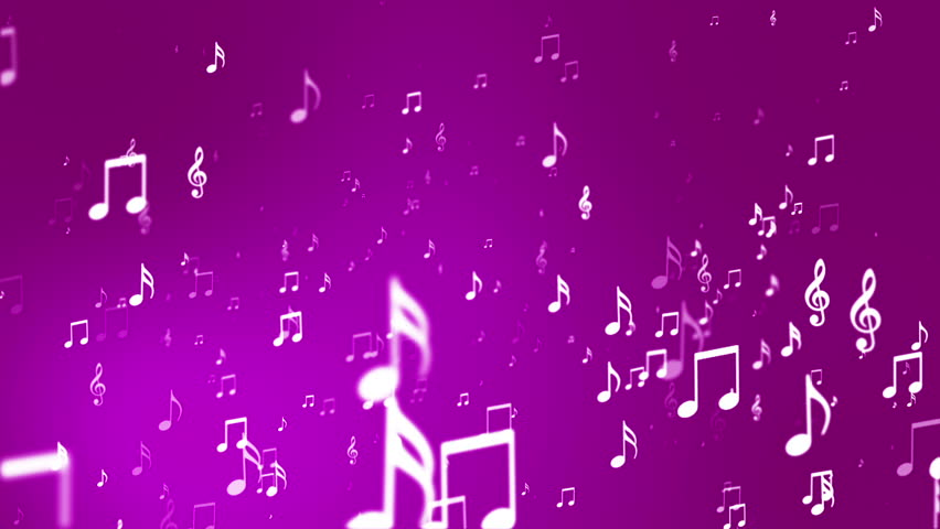 Animated Background With Musical Notes Stock Footage Video ...
