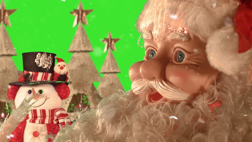 Santa and the snowman in an interesting backdrop, check my page more of Christmas Theme - HD stock video clip