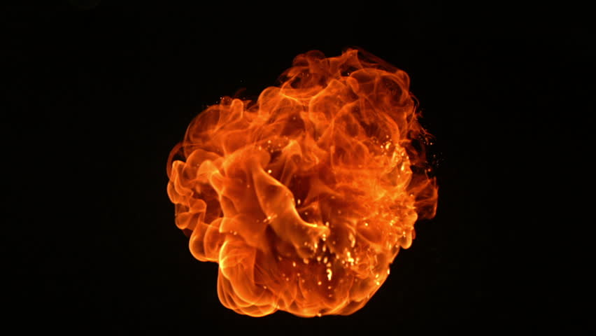 Cinemagraph - Fireball in slow motion. Looping Motion Photo.